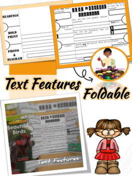 Nonfiction Text & Graphic Features Interactive Notebook Foldable