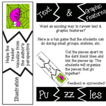 Text/Graphic Features Puzzle Sort