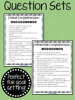 Literal and Inferential Comprehension Questions for ANY book! (Grade 1)