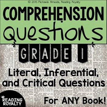 Literal And Inferential Comprehension Questions For Any Book Grade 1