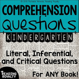 Literal and Inferential Comprehension Questions for ANY book! (Kindergarten)