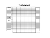 Text Leveling Chart Worksheet, Fountas and Pinnell