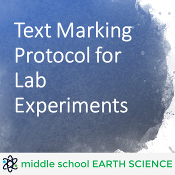 Text Marking Protocol for Lab Experiments