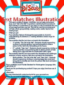Text Matches Illustration Dr. Seuss Theme
