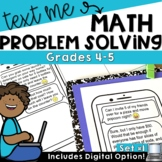 Text Message Word Problem Worksheets