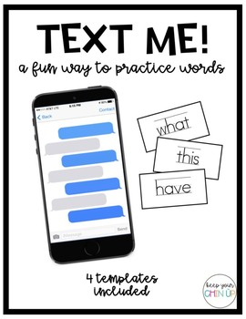 Text Your Words!
