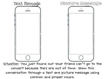 Text Me! Common and Proper Noun Activity