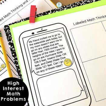 Text Message Word Problem Worksheets Summer