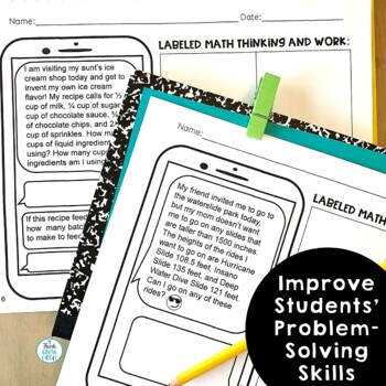 Summer Text Message Word Problem Worksheets