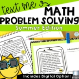 Text Message Summer Word Problem Worksheets