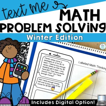 Text Message Word Problem Worksheets Winter Activities