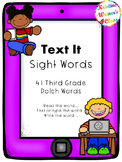 Text Me Sight Word Cards {Third Grade Dolch Words}