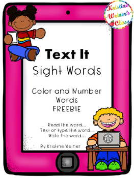 Text Me Sight Word {Color and Number Words Freebie}