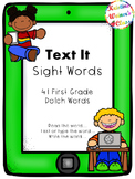 Text Me Sight Words {First Grade Dolch Words}