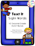 Text Me Sight Words (Second Grade Dolch Words)