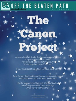 Text & Media Evaluation Lesson: The Canon Project!