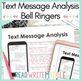Text Message Analysis Bell Ringers Distance Learning
