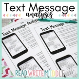 Text Message Analysis Bundle Making Inferences & Citing Evidence