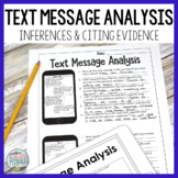 Text Message Analysis Inferences and Citing Evidence