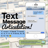 DISTANCE LEARNING Articulation Text Messages!