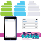 Text Message Bubbles Clip Art Set