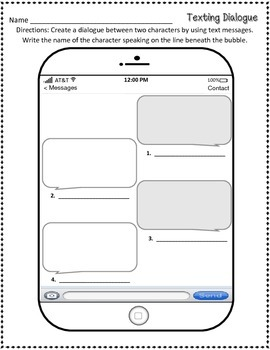 Text Message Character Dialogue