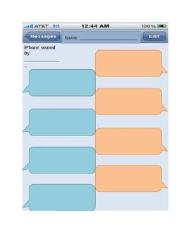 Text Message Graphic Organizer