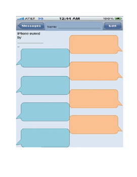 Text Message Graphic Organizer