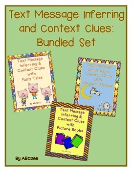 Text Message Inferring and Context Clues Bundled Set