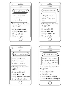 Text Message Mixed Editing Skills - Writing STAAR Prep