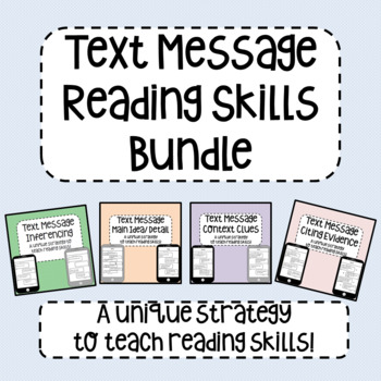 Text Message Reading Skills Bundle