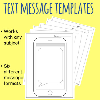 Text Message Templates by Read Write Middle | Teachers Pay Teachers