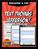 Text Message Thomas Jefferson with Giant Phone Template