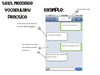 Text Message Vocabulary Practice