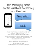 Text Message Workbook for WH Questions, Inferencing, & Soc