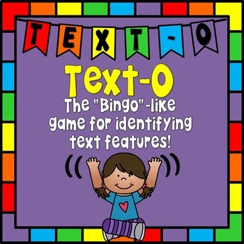 Text-O  Bingo Like Game for Text Features!