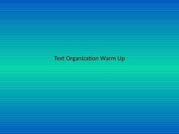 Text Organization Authentic Learning Game