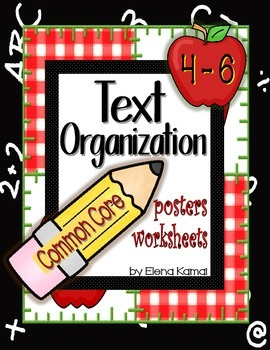 Text Organization Posters & Worksheets for Common Core