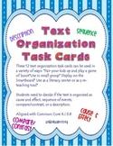 Text Organization Task Cards R.I 3.8