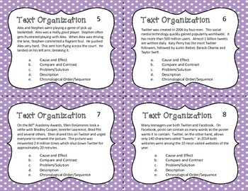 Text Organization Task Cards - Text Structure