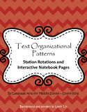 Text Organizational Patterns Stations/Interactive Notebook