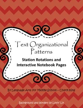 Text Organizational Patterns Stations/Interactive Notebook