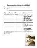 Text Questions Criteria List