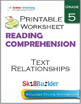 Text Relationships Printable Worksheet, Grade 5