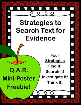 Text Evidence Search Strategies (Mini-Poster)