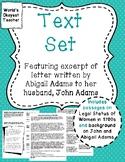 Text Set: Abigail Adams letter to husband, John Adams