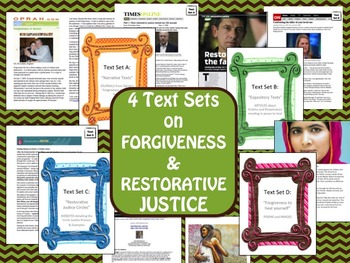 4 Text Sets on Forgiveness and Restorative Justice