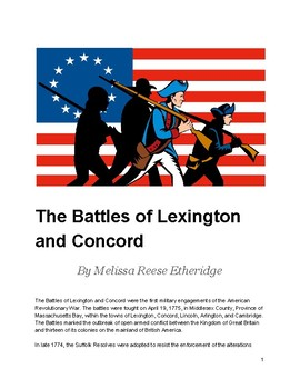 Text Set: The Battles of Lexington and Concord