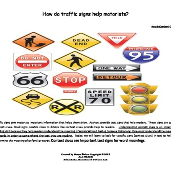 Text Signs:Context Clues for Word Meaning Lesson Starter