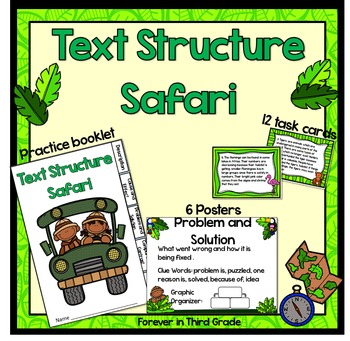 Text Structure Task Cards and Posters